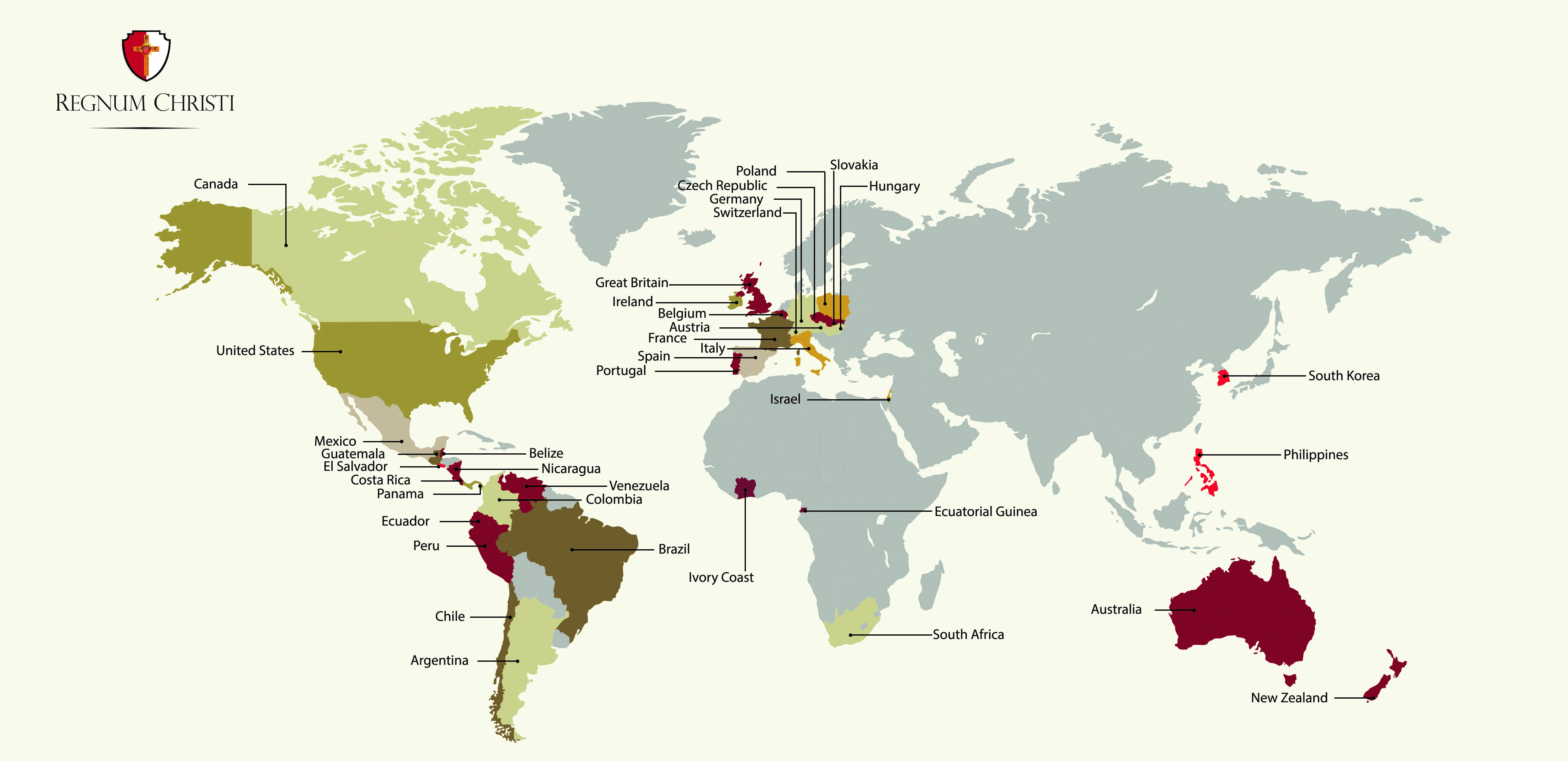 Map Regnum Christi