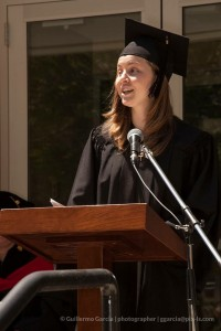 Mirianna Sternhagen delivers the student address