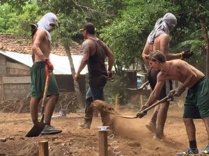diggin foundations for a church in the dusty nicaraguan soil