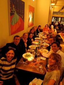 Regnum Christi members and 3 Legionaries enjoy dinner together on Friday night.