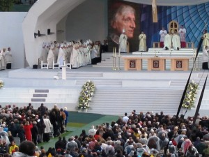 A moment during the beatification Mass of Cardinal John Henry Newman on Sunday.