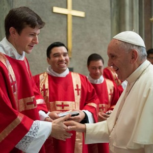 Fr. Matthew Whalen LC with Pope Francis