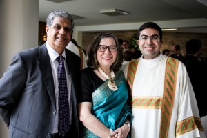 Fr. Sameer Advani and his family during his Deaconate Ordination