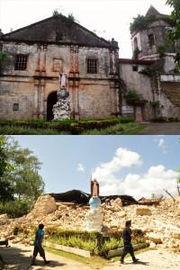 Santa_Cruz_Parish_Church,_Maribojoc,_Bohol_(Before_and_After_2013_Bohol_Earthquake)