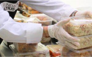 Fundación Altius, en España, mantiene el reparto de alimentos a las familias sin empleo